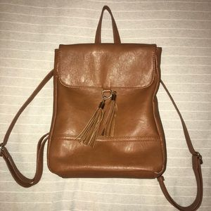 Sole Society tan pleather backpack
